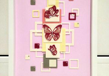 Композиции из фоамирана Геометрия в розовом