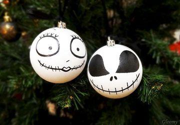 "Набор шариков на ёлку ""Джек и Салли"""