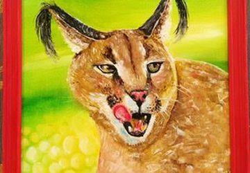 Картина маслом «Портрет каракала»