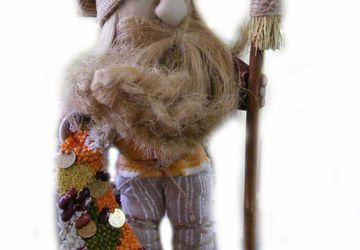Интерьерная кукла - домовой с рогом изобилия