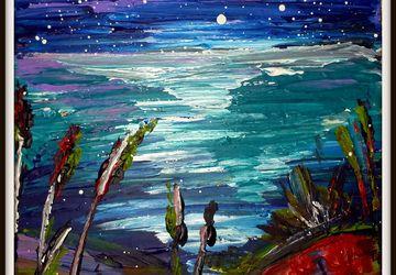 "картина,""Восход луны"""