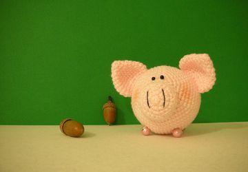 Свиношарик розовый 8см