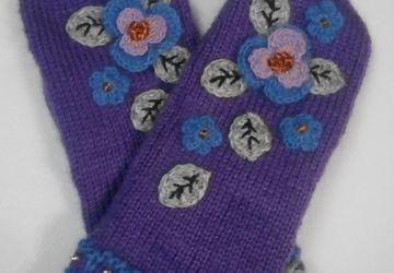 Варежки Анюткины сказки, фиолетовые