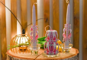Резные свечи свадебные