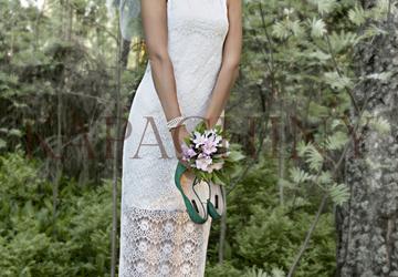 Платье двойное, трикотажное Gabriel с верхним платьем из гипюра