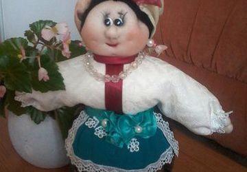 """Сувенир кукла-погремушка """"Трындычиха"""""""