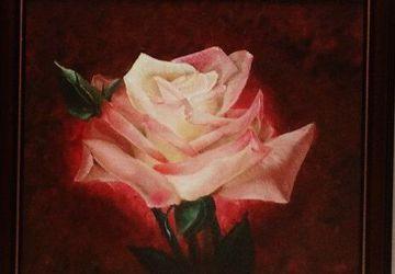"""Картина маслом """"Роза"""""""