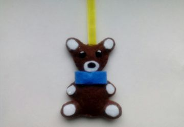 Медвежонок из фетра
