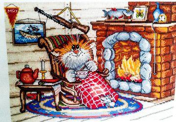 Картина крестиком Уютный вечер