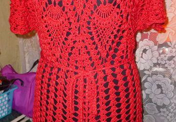 Продам вязаное платье-тунику