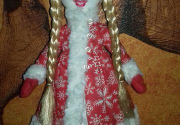 Кукла из флиса  СНЕГУРОЧКА