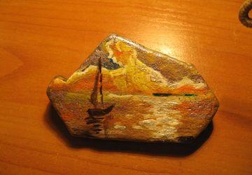 миниатюры на камнях
