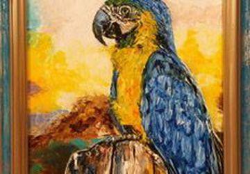 Картина маслом «Попугай Ара»