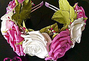 #ободок с розами из фоамирана