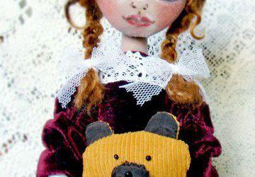 Авторская коллекционная текстильная кукла «SCARLETT».