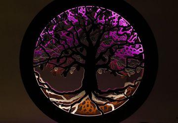 Световое панно из дерева