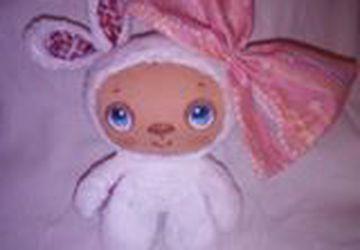 Мягкая игрушка из ткани заяц