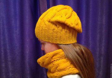 Комплект, шапка + снуд/шарф