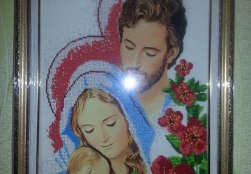 "Бисерная икона ""Святое семейство"""