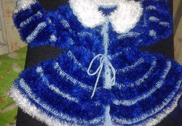 пальто из пряжи ''травка''