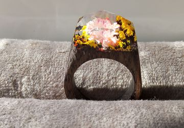 Деревянное кольцо №3
