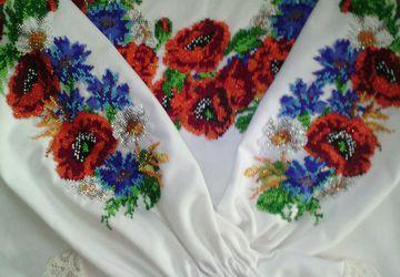 """Блузка-вышиванка """"Маки с васильками"""""""