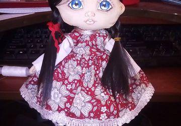 Авторская интерьерная кукла из ткани из текстиля ручной работы