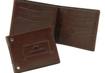 Мужское портмоне из натуральной кожи Cangurione 1180-004 V Tan