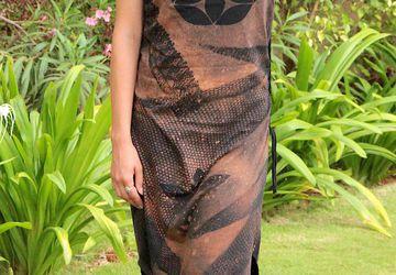 Платье с принтом Семя жизни