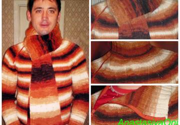 """Мужской свитер """"Осеннее настроение"""""""