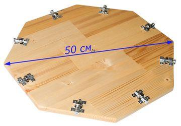 Детали крутящегося центра стола Lazy Susan 60-80 см.