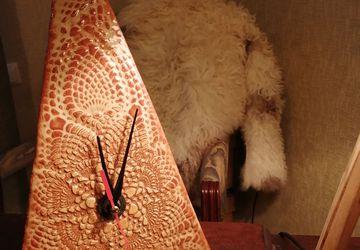Интерьерные часы «Пески времени». Ручная работа, глина.