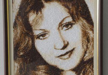Вышитый портрет по фото