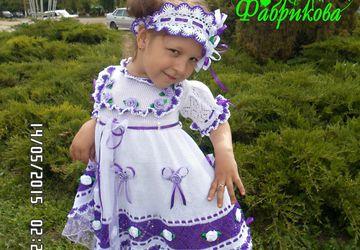 Платье - повязка крючком для девочки