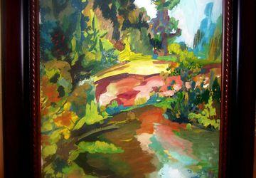 Пейзаж на Волге ,картина