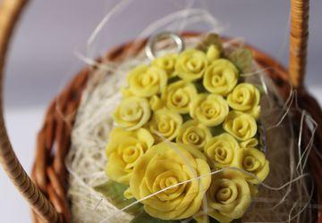 """Подвеска овал """"Желтые розы"""""""