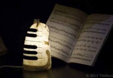 Светильник войлочный Кот Музыкант