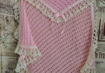 Нежно розовый детский пледик