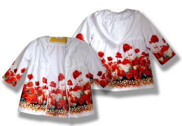 Комплект одежды (плащ и платье) Маки, фотопринт