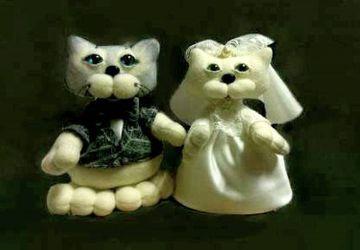 Свадебная парочка котиков Мурис и Муриса  ручной работы.
