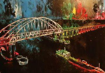 Картина маслом «Крымский мост»