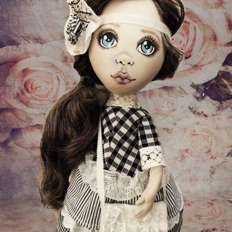 глазки милая кукла ручная интерьерная бохо розочка текстильная подарок