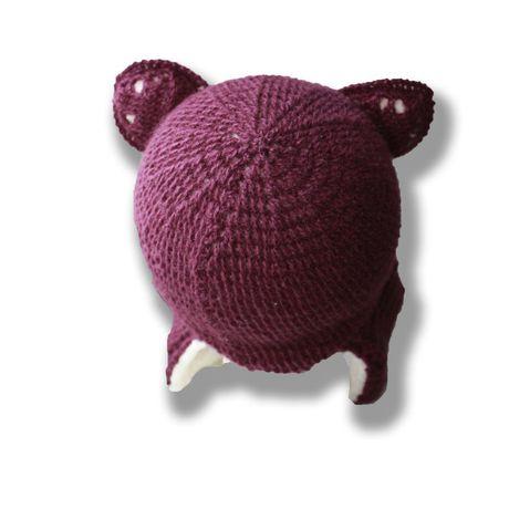 ушанка связанное красивая фиолетовая и удобная теплая связанные зимняя аксессуары детская ручная детские детям лиса шляпы шапки продажа купить шапочка работа крючком стильная