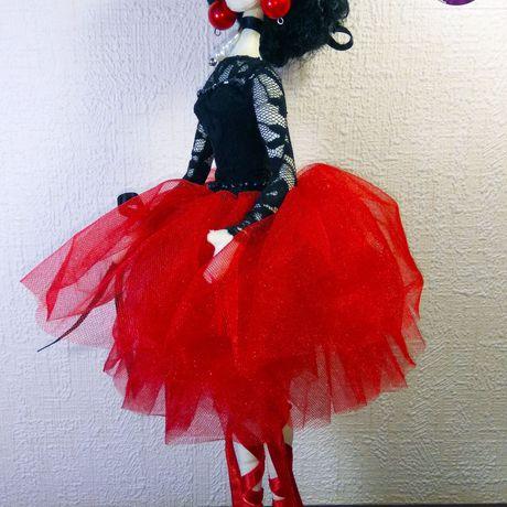 балерина кукла тряпиенс текстильная