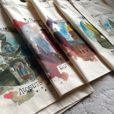 эксклюзивный ручная работа экосумка подарок росспись