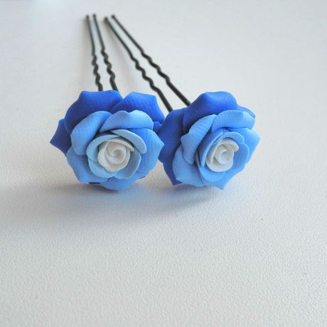 украшение handmade заколка подаркиручнойработы невидимка proglina белоусоваанна украшениядлясвадьбы своимируками полимернаяглина цветы роза