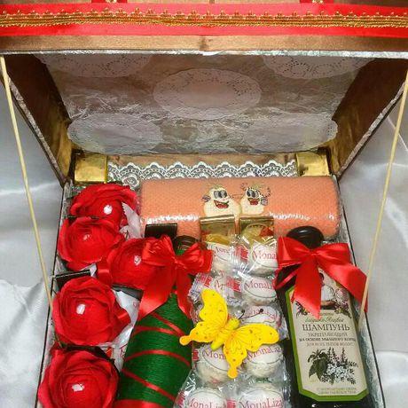 шампанское шоколад подарок вкусный набор девушке женщине