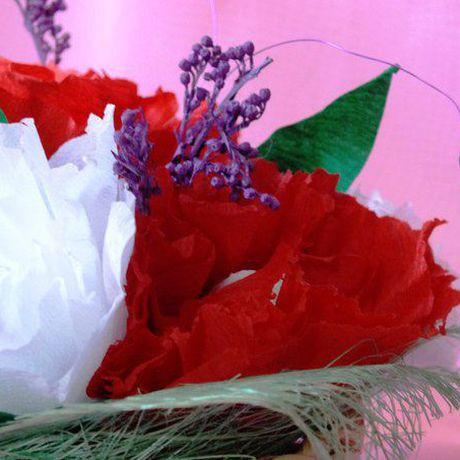 8марта ручнаяработа пионы цветывкорзинке любимой букетизконфет подарок