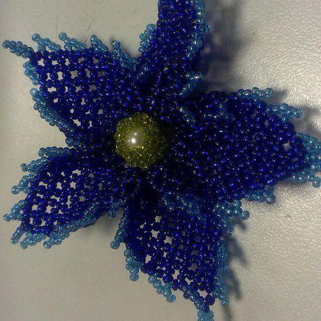 бижутерия ручная брошь работа украшение бисер цветы