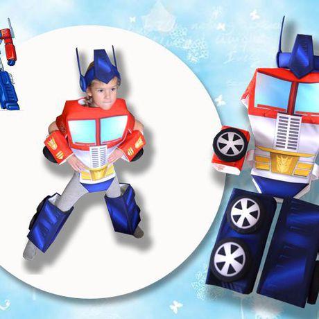 робот грузовик трансформер оптимус колеса новогодний синий костюм карнавальный детский машина красный